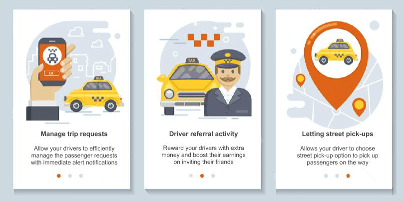 Recent driver app enhancements that prompt taxi dispatch system